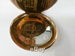Antique Ca. 1910 Euro 14K Gold Ancre Movement Hunters Case Gent's Pocket Watch