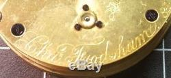 Antique Charles Frodsham Pocket Watch Movement Great Shape Works