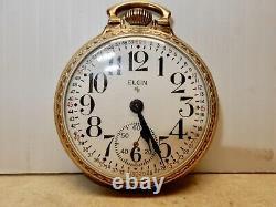 Antique Elgin Railroad Pocket Watch Gold Filled Case 574 Movement