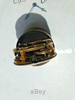 Antique English Verge Silver Pocket Watch Movement 1760circa