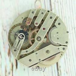 Antique F. Rotig Havre Manual Wind Pocket Watch Movement Rare High Grade Swiss