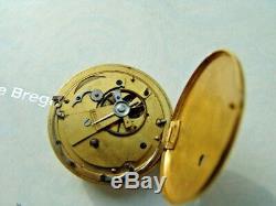 Antique French Verge Cylinder Pocket Watch Movement