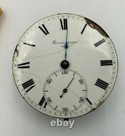 Antique Fusee Pocket Watch Movement Barwise LONDON 45mm Rare As Is