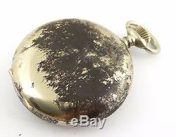Antique Hebdomas Exposed Mechanical Movement Pocket Watch Needs Work LAYBY