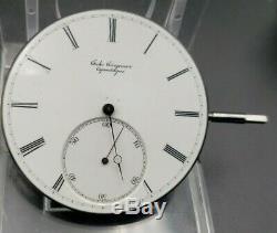 Antique Jules Jurgensen 46mm Pocket Watch Movement High Grade Running For Repair