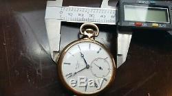 Antique Jules Jurgensen Pocket Watch Movement In Gold Filled Open Face Case