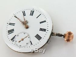 Antique L. U. C Chopard Wolf Tooth Pocket Watch Movement. Louis Ulysses Chopard