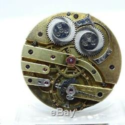 Antique Le Coultre 16 Jewel Manual Wind Pocket Watch Movement + Wolfs Teeth #