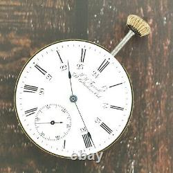 Antique Omega Private Label 15J Manual Wind Pocket Watch Movement +Canadian Dial
