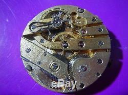 Antique PATEK PHILIPPE Pocket Watch Movement 1900's High Grade Lever Set 45mm