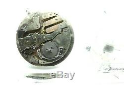 Antique Pre-Manufactured LeCoultre Minute Repeater Pocket Watch Movement Swiss