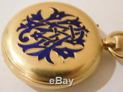 Antique Solid 18ct Gold Pocket Watch By Dent Of London. Unusual Movement