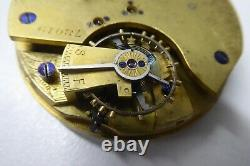 Antique Sterling Silver Case Fusee Movement Chronograph Fob Pocket Watch