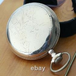 Antique Stunning 1901 Illinois Watch Co Bunn Special 21J Movement Pocket Watch