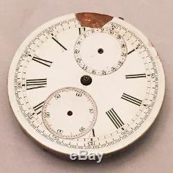 Antique Swiss Calendar Chronograph 43mm Pocket Watch Movement No. 207 19111