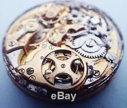 Antique Swiss Chronograph Repeater Hunters Style Pocket Watch Movement 4 Parts