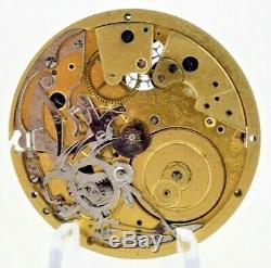 Antique Swiss Cylinder Escapement Quarter Repeater Pocket Watch Movement #