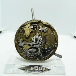 Antique Swiss Made Pre-Manufacture Minute Repeater Pocket Watch Movement #