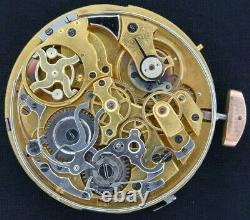 Antique Swiss Quarter Repeater Chronograph Manual Wind Pocket Watch Movement