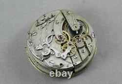Antique Unbranded QUARTER REPEATER Chronograph Movement & Dial. Running