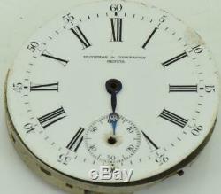 Antique Vacheron&Constantin pocket watch movement c1900's for repair. 29mm