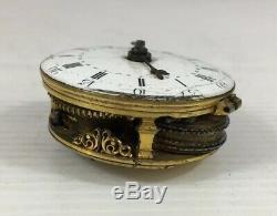 Antique Verge Fusee Pocket Watch Movement C18th John Fardon Deddington Untested