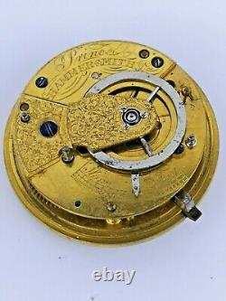 Antique Verge Pocket Watch Movement with Superb Silver Dial for Repair (M129)
