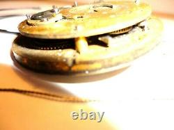 Antique Watch Movement Fusee Verge EScapement (Quarter Repeater)