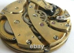 Antique high grade Pocket Watch Movement 40mm working Swiss (K89)