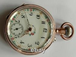 Antique, pocket watch. Cylinder movement. Working