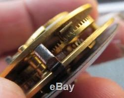 Antique verge fusee pocket watch movement