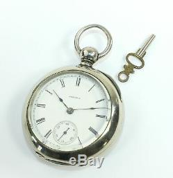 Aurora Pocket Watch 18 Size Keywind & Keyset Low Serial Number Runs Ol06