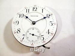 BEAUTIFUL RARE WALTHAM 18 sz CRESCENT TWO TONE 21 Jewel Movement Pocket Watch