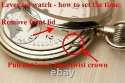 BIG 1904 Waltham 17 Jewel PS Bartlett Pocket Watch Two Tone Movement Heavy 18s