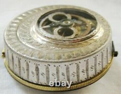 Beautiful French rare skeletonlized verge fusee Pocket Watch, movement ca 1750