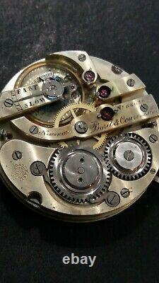 Borel & Courvoisier High Grade Pocket Watch Movement 43mm Hunter lever set