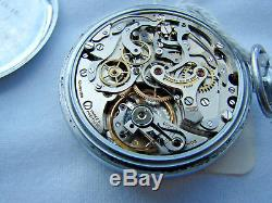 Breitling Military Chronograph Pocket Watch movement for sale