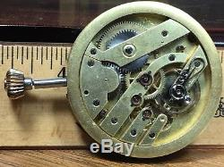 C. 1880 VACHERON CONSTANTIN 50mm POCKET WATCH MOVEMENT KEEPS TIME withFANCY HANDS