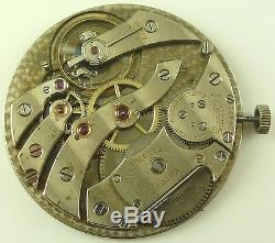 C. H. Meylan Extra-Thin High Grade Swiss Pocket Watch Movement Parts / Repair