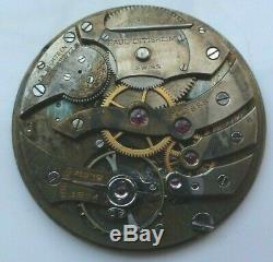 C. H. Meylan Paul Ditishiem High-Grade Swiss Pocket Watch Movement 18 Jewels