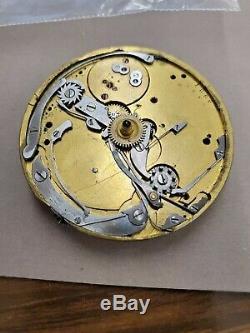 C1870s Nicole & Capt Tiffany & Co Chronograph Pocket Watch Movement 21671