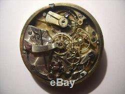 CHRONOGRAPH ANTIQUE POCKET WATCH MOVEMENT & DIAL, 44 mm, AXLE IN GOOD CONDITION