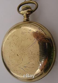 Canadian Railway Time Service 17 jewels Adj. Waltham 1883 Pocket Watch OF