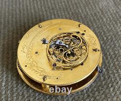 Carl Adam Ruth Norrköping Spindel Uhrwerk mit Datum 49,90 mm ca. 1810