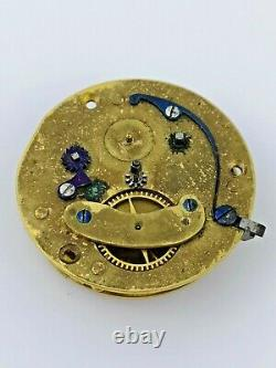 Chadwick, London, Verge Fusee Pocket Watch Movement for Restoration (Z28)