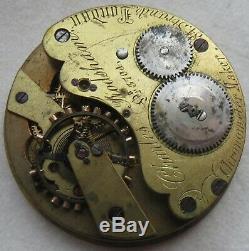 Charles Frodsham Pocket Watch movement & enamel dial power reserve