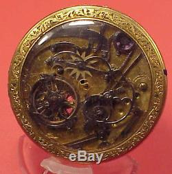 Chinese Market 51mm Skeleton 1/4 Repeater on back Verge Fusee Pocket Watch