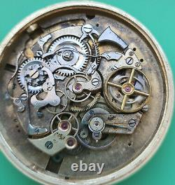 Chronograph repeater pocket watch movement for repair/restore