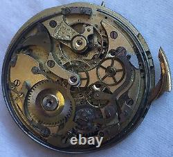 Chronometre Repetiton Pocket watch Movement & enamel dial repeater work