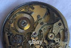 Chronometre Repetiton Pocket watch Movement & enamel dial repeater work